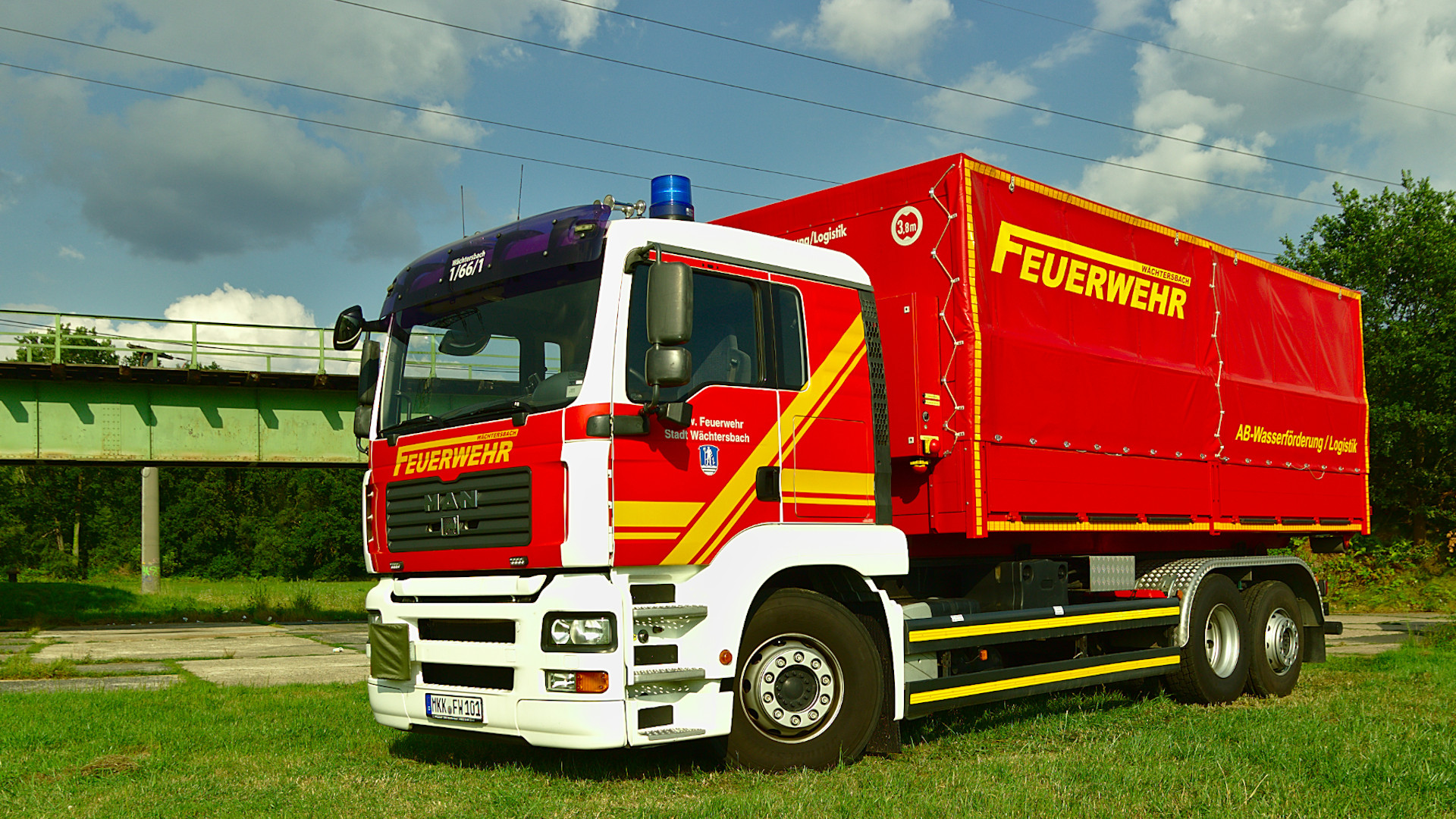 Wechselladerfahrzeug WLF der Feuerwehr Wächtersbach